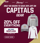GET YOUR CAPITALS GEAR NOW