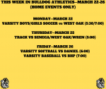 THIS WEEK IN BULLDOG ATHLETICS (HOME EVENTS)