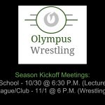 Olympus Wrestling Kickoff Meetings