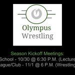 Olympus Wrestling Kickoff Meetings