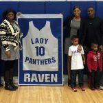 Lady Panther Basketball Retires Jersey #10 – Brittainey Raven