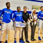 Men's Basketball Clinches Dist. Championship on Sr. Night