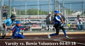 Varsity vs. Bowie Volunteers 04-03-18
