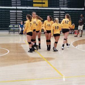 Volleyball scrimmage at Northeastern 8/9/2017