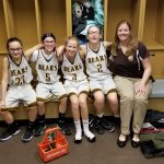7th grade Ladies collect first win