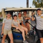 The Monroe Central Girls' Golf Team competes at Elwood Invite