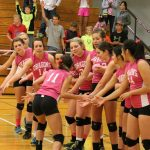 Volleyball Falls In Hard Battle for Pink Out