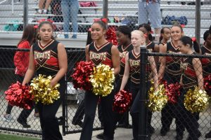 POMs at Varsity Football vs Blake HS 17Sept2016