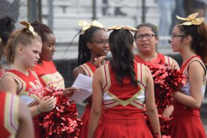 JV Cheerleaders at Football vs Blake HS 17Sept2016