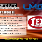 Introduction to Regional TV With a 91 Kickoff Return Earns Ruggs III Sportz Blitz Player of the Week