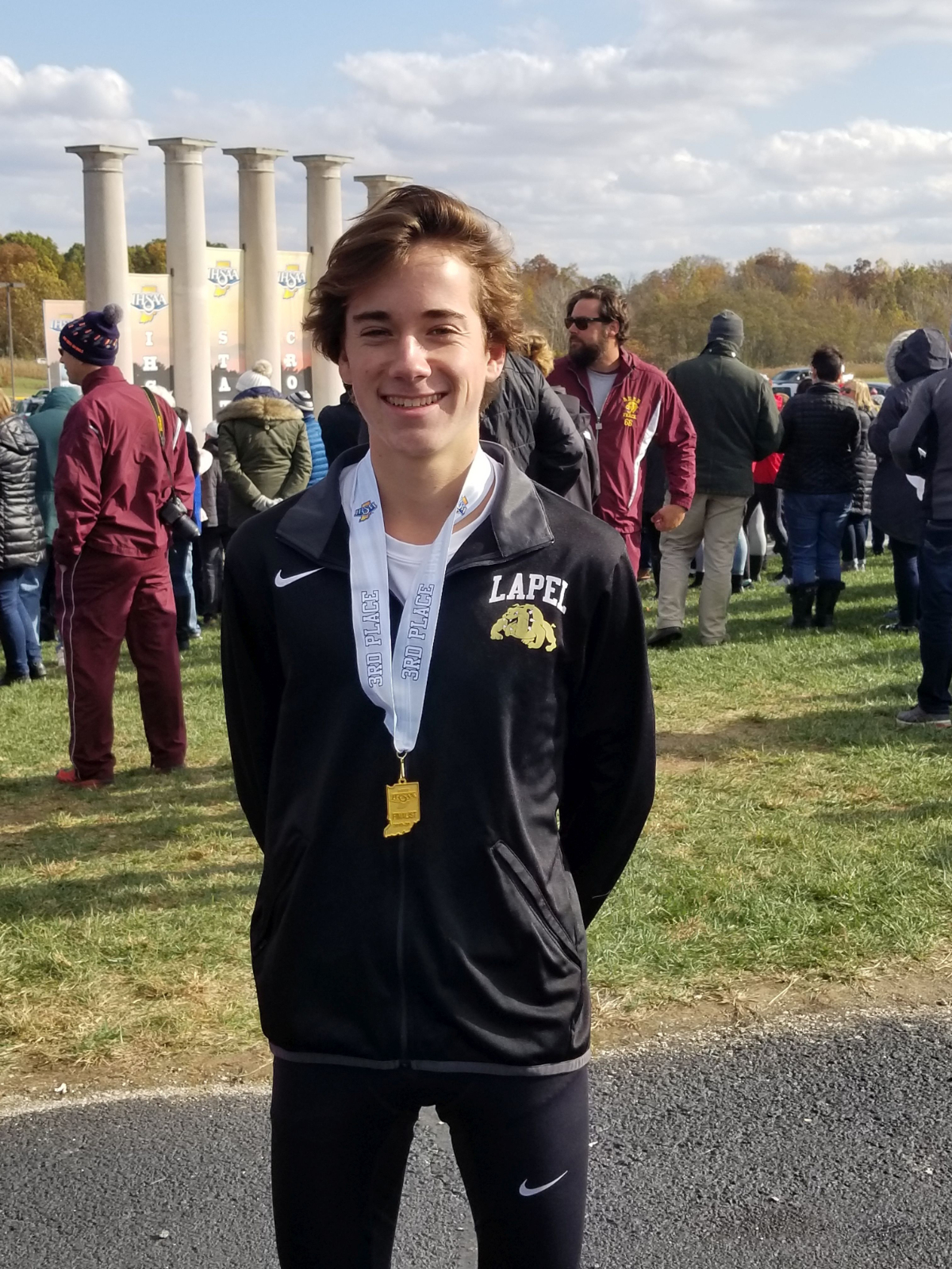 Luke Combs places 3rd place in State Cross Country and wins Mental Attitude Award