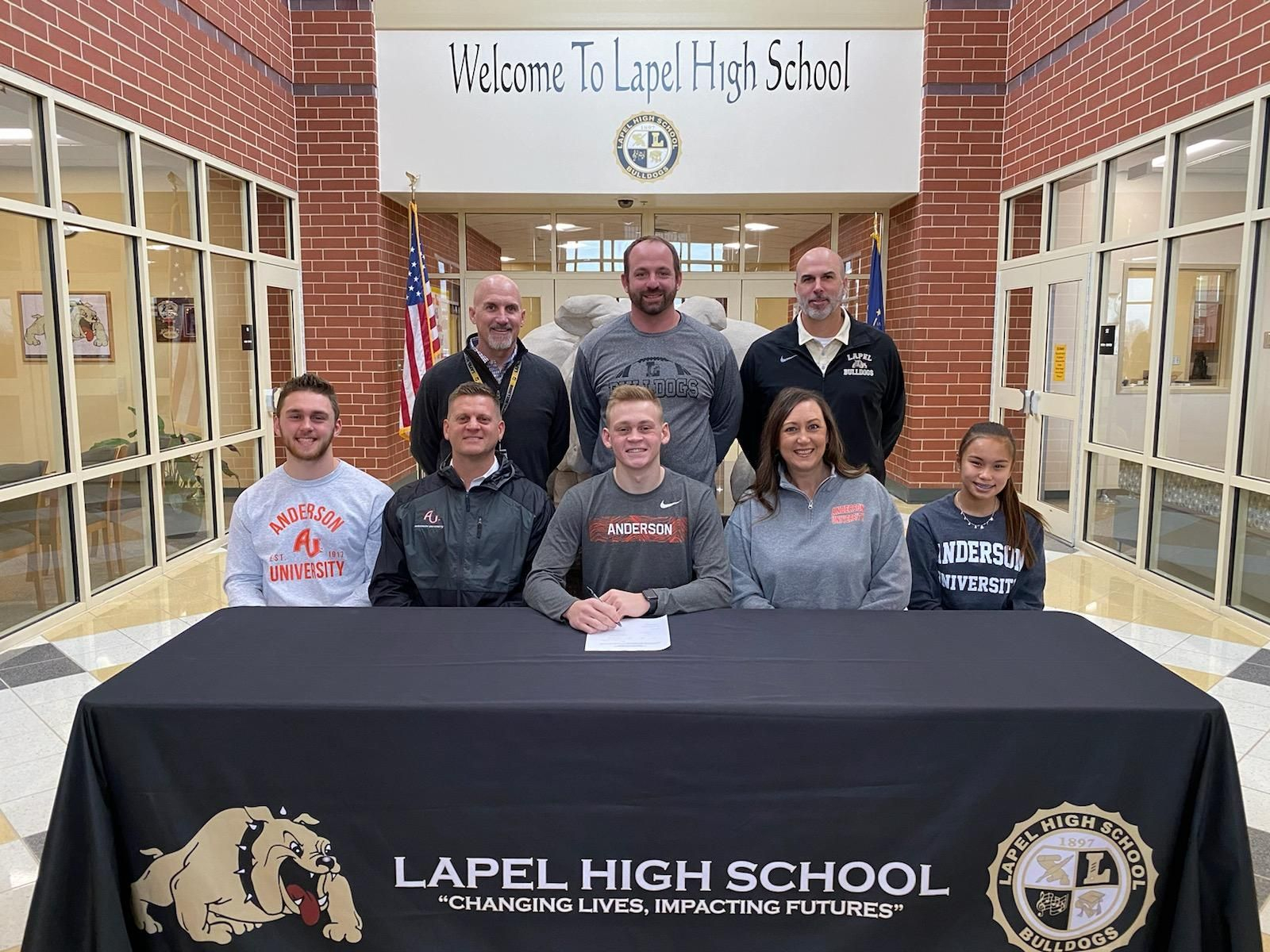 Noah Frazier Signs to Play Football with Anderson University