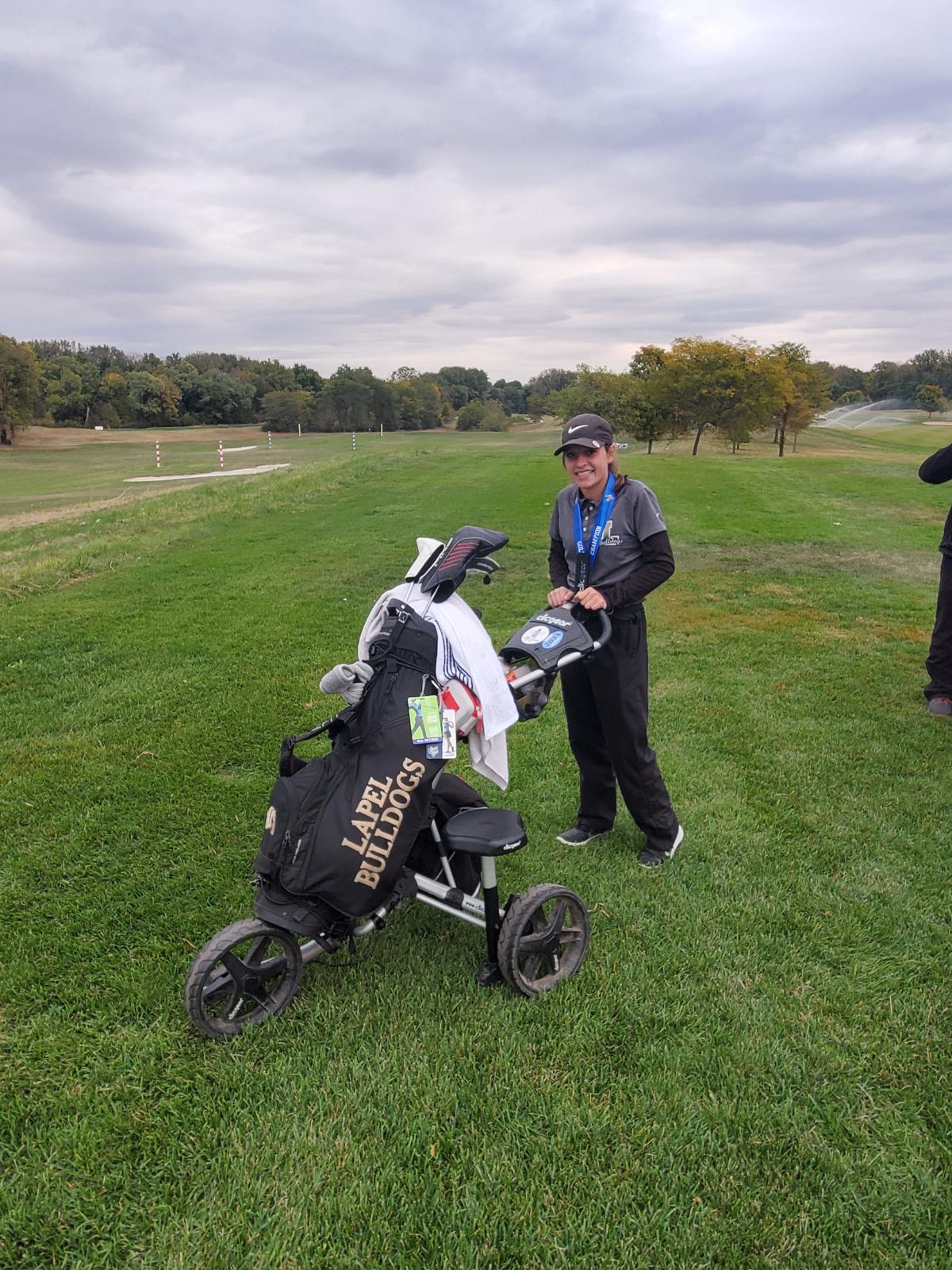 Macy Beeson IHSAA Girls Golf State Champion
