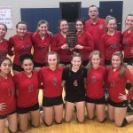 Lady Berries JV Volleyball Defeats Pioneer in Cass County Tournament Championship