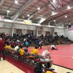 2.10.18 BWHS Wrestling Wins 3 beat Thomas Worthington, Utica and Granville on Alumni & Senior Recognition Day