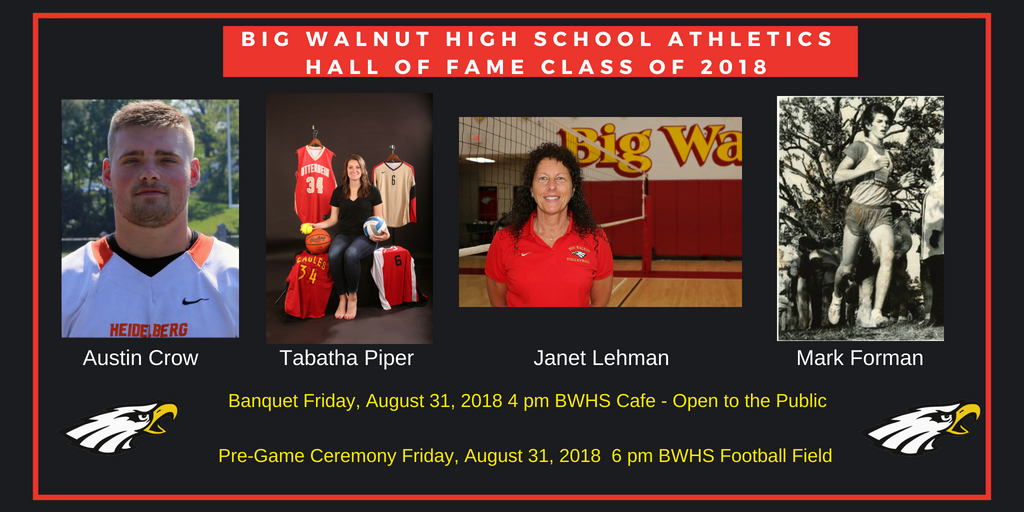 Big Walnut Athletics Hall of Fame Class of 2018 – Bios and Pic Updated 9.4.18