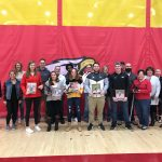 Brandon Mosher, Tim Rumas, Meredith Thomas, Avery Schone and Mac Podraza qualify for the Big Walnut Athletic Wall of Fame