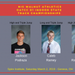 Borland, Podraza, Ramey, Rammelsberg – Qualify for Indoor State Track Championships