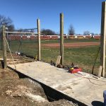 Replacement frosh baseball field dugouts nearing completion