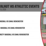 Big Walnut HS Athletic Events Friday, April 5, 2019