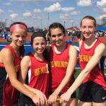 6400 BW girls relay – new school record