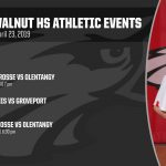 Big Walnut HS Athletic Events, Tuesday, April 23, 2019