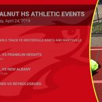 Big Walnut HS Athletic Events Wednesday, April 24, 2019
