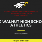 Big Walnut High School Athletics Spring College Signing Day 2019