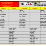 BWHS Summer Weight Room Schedule