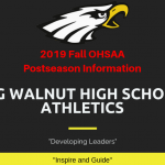 Big Walnut HS Athletics 2019 Fall Postseason Information