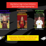 Big Walnut Athletics 2019 Fall College Signing Day – Update and Pics