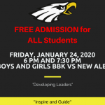 FREE ADMISSION FOR ALL STUDENTS (H) VS NEW ALBANY