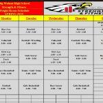 Big Walnut Athletics – Spring 2020 Weight Room Schedule