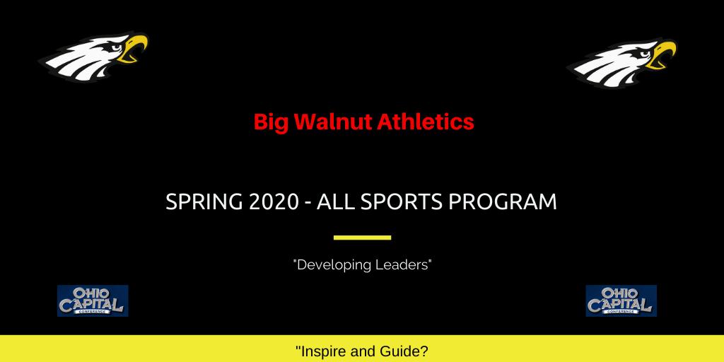 2020 Big Walnut HS Athletics Spring All-Sports Program