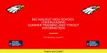 Big Walnut High School Cheerleading – Tryouts – Fall 2020 – Information