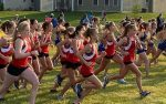 Girls'  Cross Country set 9 PRs and 5 course records against Olentangy