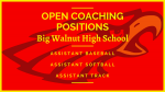 BWHS Athletics – Spring Sports Open Coaching Positions
