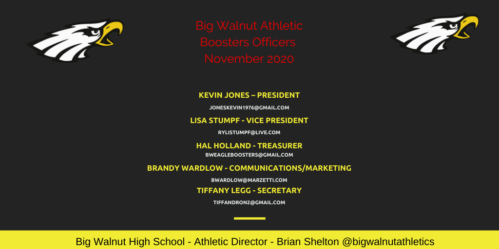 Big Walnut Athletic Boosters Officer Update