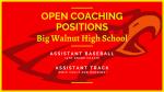 Big Walnut High School Athletics – Open Coaching Positions