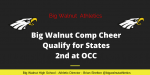Big Walnut Comp Cheer – Qualify for states – Place 2nd in OCC – Video