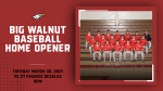 Big Walnut HS Baseball – Home Opener