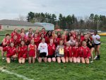 Girls' Track Team wins Golden Eagle Relays, 3-person Discus team breaks school record!