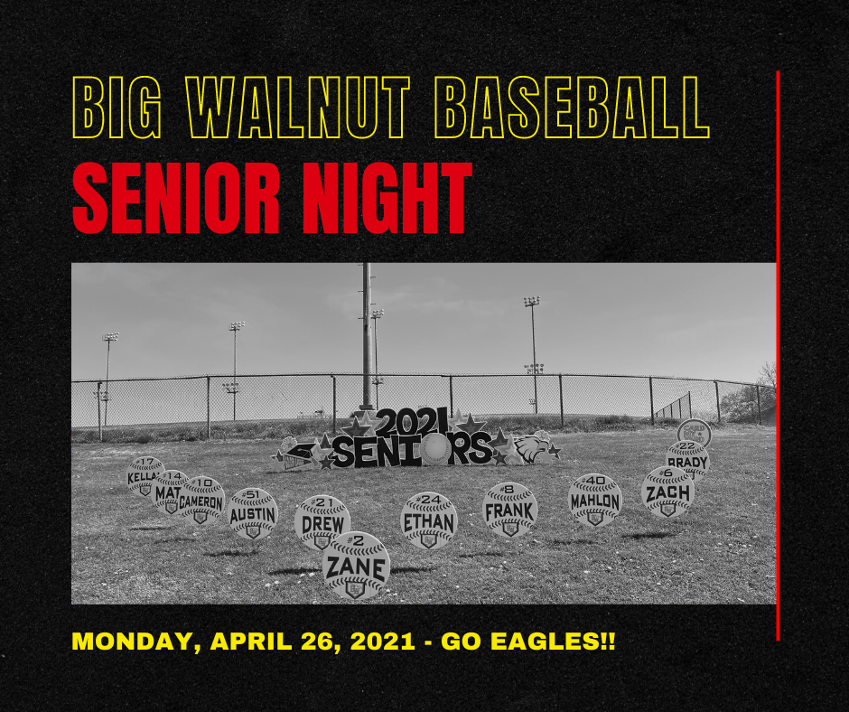 Big Walnut HS Baseball – Senior Night 2021