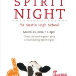 Austin Mustang Athletics – Spirit Night Fundraiser