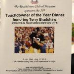 Donald Harper attends Touchdown Club dinner