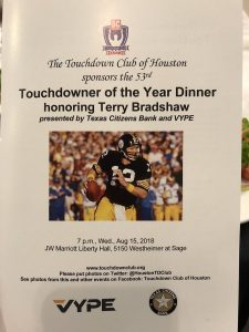 Donald Harper attends Touchdown Club dinner