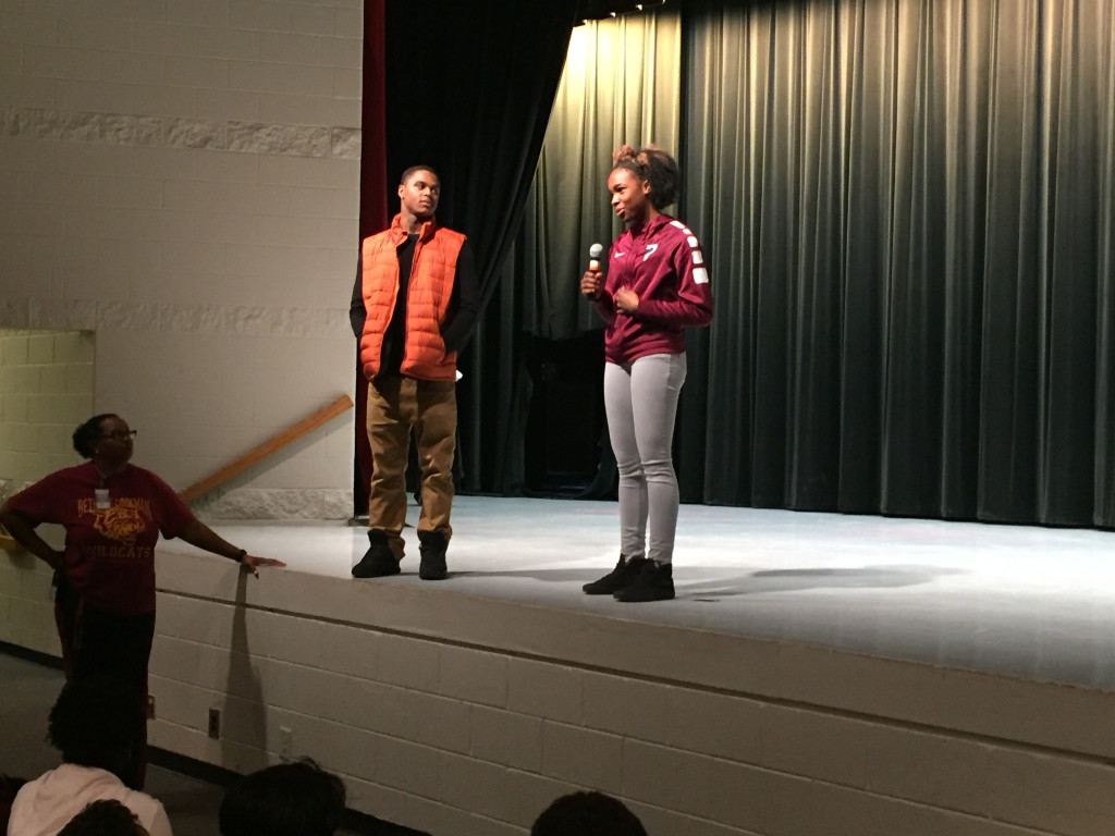 Pebblebrook's Positive Athletes Inspiring Lindley Middle Students!