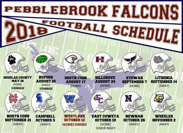 Pebblebrook Falcons Football Is Back!