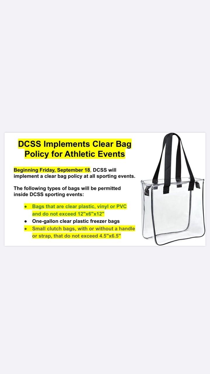 Varsity Football @ Lithia Springs-9/25 Bag Policy