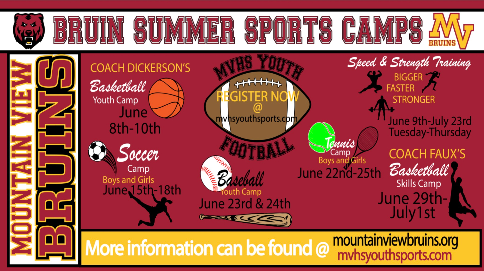 MVHS Summer Sports Camp Information